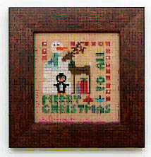 Heart in Hand Needleart - Merry Christmas To All-Heart in Hand Needleart - Merry Christmas To All, Christmas, Santa Claus, Rudolph, snowman, penguin, cross stitch