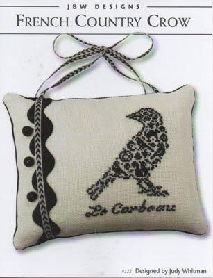 JBW Designs - French Country Crow-JBW Designs - French Country Crow, birds, Halloween, cross stitch