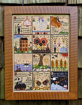 Carriage House Samplings - A Year at Hawk Run Hollow-Carriage House Samplings - A Year at Hawk Run Hollow, 12 months, annual, country, cross stitch,