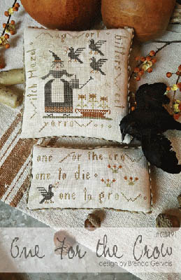 With Thy Needle & Thread - One For the Crow-With Thy Needle  Thread - One For the Crow, Halloween, witch, crow, witch hazel, primitive, cross stitch