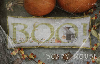 With Thy Needle & Thread - Scary Mouse-With Thy Needle  Thread - Scary Mouse, Halloween, mouse, witch, fall, pumpkin, cross stitch