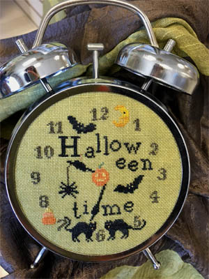 NeedleWorkPress - Halloween Time-NeedleWorkPress - Halloween Time, clock, trick or treat, fall, bats, cross stitch