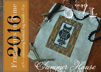 Summer House Stitche Workes - Fragments In Time 2016 - Owl-Summer House Stitche Workes - Fragments In Time 2016 - Owl, birds, animals, cross stitch