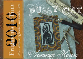Summer House Stitche Workes - Fragments In Time 2016 -  Pussy Cat-Summer House Stitche Workes - Fragments In Time 2016 -  Pussy Cat, kitten, cats, cross stitch,