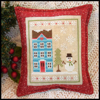 Country Cottage Needleworks - Snow Place Like Home - Snow Place 1-Country Cottage Needleworks - Snow Place Like Home - Snow Place 1, houses, snowman, winter, snowflakes, cross stitch