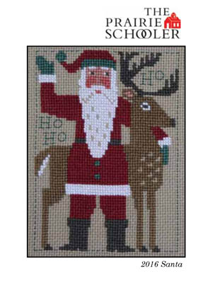 Prairie Schooler - 2016 Santa-Prairie Schooler - 2016 Santa, Santa Claus, Christmas, reindeer, cross stitch