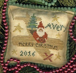 Homespun Elegance - 2016 Avery's Toy Express Ornament-Homespun Elegance - 2016 Averys Toy Express Ornament, Christmas, Christmas tree ornament, airplane, toys, vintage, cross stitch, Santa Claus,
