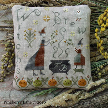 Pineberry Lane - Fancy Blackett - Witch's Brew-Pineberry Lane - Fancy Blackett - Witchs Brew, Halloween, fall, cauldron, cross stitch