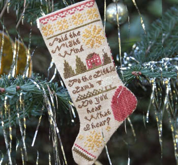 Heartstring Samplery - Do You Hear What I Hear?-Heartstring Samplery - Do You Hear What I Hear, Christmas song, Christmas stockings, Ornament, cross stitch