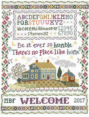 Imaginating - Humble Home Sampler-Imaginating - Humble Home Sampler, house, sampler, family, farm, cross stitch