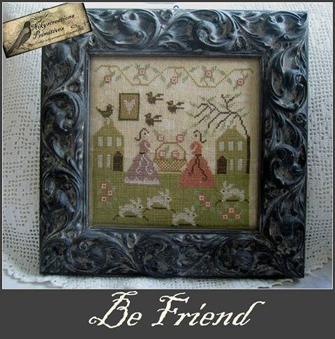 Nikyscreations - Be Friend-Nikyscreations - Be Friend, friends, BFF,friendship, gardens, love, cross stitch,