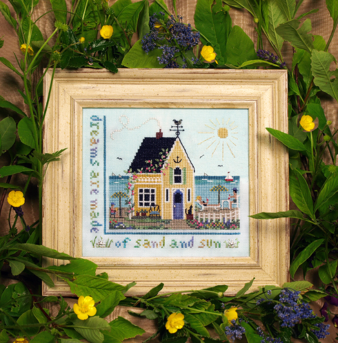 Victoria Sampler - Beach Cottage-Victoria Sampler - Beach Cottage, beach, ocean, beach house, summer, palm trees,