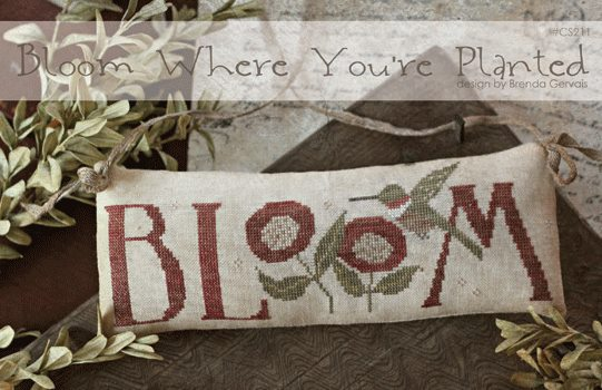 With Thy Needle & Thread - Bloom-With Thy Needle  Thread - Bloom, flowers, pillow, cross stitch