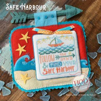 Hands On Design - Safe Harbour-Hands On Design - Safe Harbour, seas, ocean, sailboat, stars, cross stitch