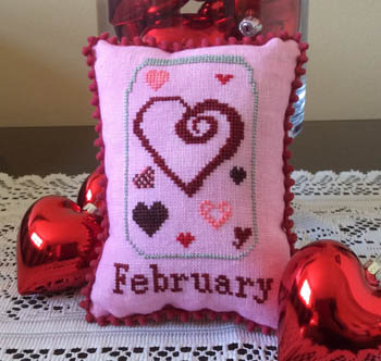 Needle Bling Designs - What's in Your Jar - Part 02 - February-Needle Bling Designs - Whats in Your Jar - Part 02 - February, Valentines Day, hearts,