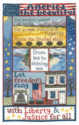 Imaginating - Liberty For All-Imaginating - Liberty For All, 4th of July, America, freedom, cross stitch