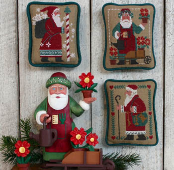 Prairie Schooler - Santas Revisited III (1987, 1993, & 1996)-Prairie Schooler - Santas Revisited III 1987, 1993,  1996, Santa Claus, Christmas, cross stitch