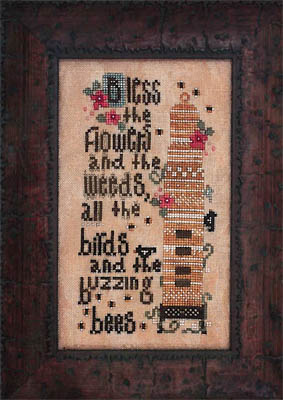 Heart in Hand Needleart - Birds and the Bees-Heart in Hand Needleart - Birds and the Bees, beehive, flowers, honey, prayers, cross stitch