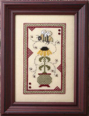 The Bee Cottage - Black Eyed Susan-The Bee Cottage - Black Eyed Susan, bees, flowers, pollen, cross stitch