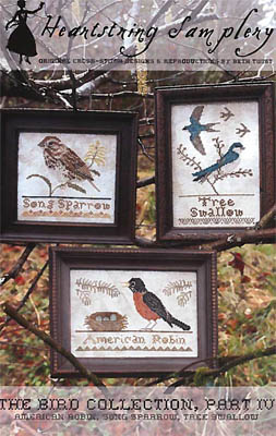 Heartstring Samplery - The Bird Collection - Part IV-Heartstring Samplery, The Bird Collection, Part IV, birds, cross stitch,