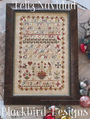 Blackbird Designs - Feliz Navidad-Blackbird Designs - Feliz Navidad, Christmas, sampler, hispanic, Merry Christmas, cross stitch