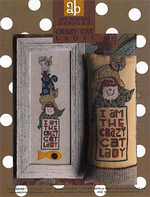 Amy Bruecken Designs - Crazy Cat Lady-Amy Bruecken Designs - Crazy Cat Lady, kitty, meow, kittens, cross stitch