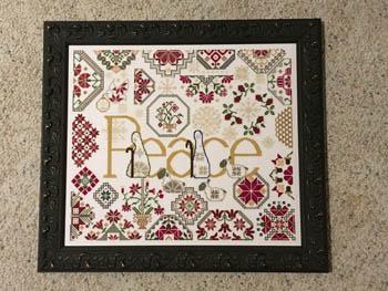 AuryTM - Peace-AuryTM - Peace, quaker, Jesus, Christmas, cross stitch