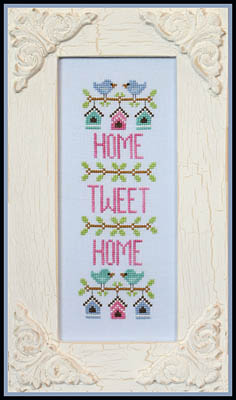 Country Cottage Needleworks - Home Tweet Home-Country Cottage Needleworks - Home Tweet Home, birdhouse, birds, homes, family, cross stitch