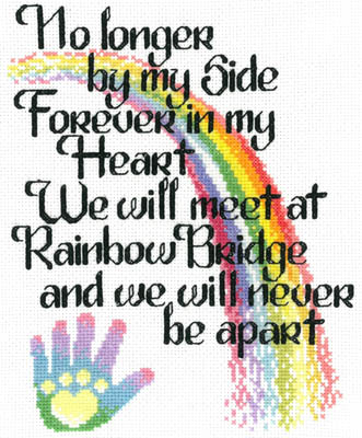 Imaginating - Let's Cross The Rainbow-Imaginating - Lets Cross The Rainbow, pets, death, love, mans best friend, dogs, cats, cross stitch