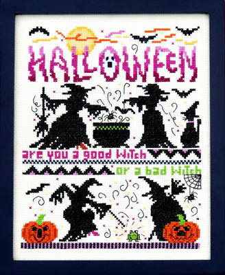 Bobbie G. Designs - Good Witch - Bad Witch-Bobbie G Designs - Good Witch - Bad Witch, Halloween, witches, cross stitch