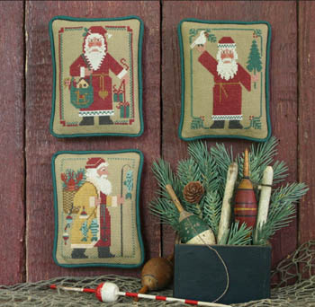 Prairie Schooler - Santas Revisited IV (1986, 1988, 1992)-Prairie Schooler - Santas Revisited IV 1986, 1988, 1992, Santa Claus, Christmas, country, folk art, cross stitch
