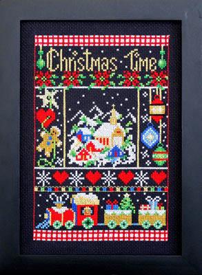 Bobbie G. Designs -  Christmas Time-Bobbie G. Designs -  Christmas Time, Christmas, family, Jesus, winter, cross stitch