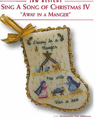 JBW Designs - Sing a Song of Christmas IV - Away in a Manger-JBW Designs - Sing a Song of Christmas IV - Away in a Manger, ornament, Christmas tree, Jesus, manger, birth of Christ, cross stitch