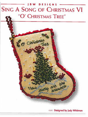 JBW Designs - Sing a Song of Christmas VI - O Christmas Tree-JBW Designs - Sing a Song of Christmas VI - O Christmas Tree, ornament, Christmas, cardinal, cross stitch