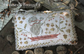 With Thy Needle & Thread - Autumn's Bouquet-With Thy Needle  Thread - Autumns Bouquet, squirrel, fall, berries, cross stitch