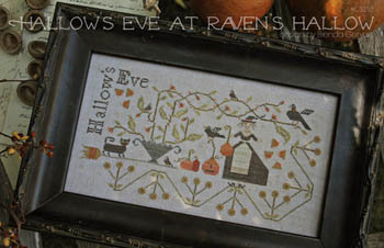 With Thy Needle & Thread - Hallow's Eve At Raven's Hollow-With Thy Needle  Thread - Hallows Eve At Ravens Hollow, Halloween, ravens, pumpkins, fall, black cat, cross stitch
