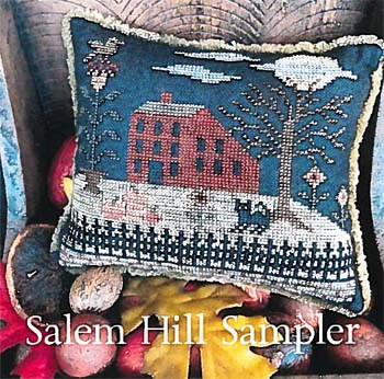 The Scarlett House - Salem Hill Sampler-The Scarlett House - Salem Hill Sampler, Halloween, witch, haunted house, cross stitch