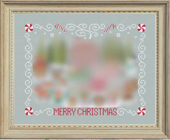 Tiny Modernist - Christmas Stitch A Long - Border-Tiny Modernist - Christmas Stitch A Long - Border, Christmas, sampler, peppermints, cross stitch