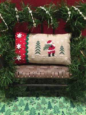 ScissorTail Designs - Santa At The Tree Farm-ScissorTail Designs - Santa At The Tree Farm, Santa Claus, Christmas Trees, snow, winter, Cross Stitch