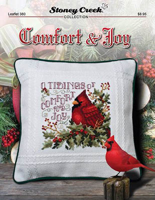 Stoney Creek - Comfort & Joy-Stoney Creek - Comfort  Joy, cardinal, Christmas, winter, birds, tidings of comfort  joy, cross stitch