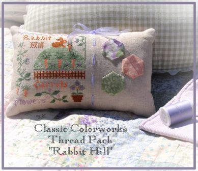 Little House Needleworks - Rabbit Hill-Little House Needleworks, Rabbit Hill, Easter, Free Chart with Thread Purchase