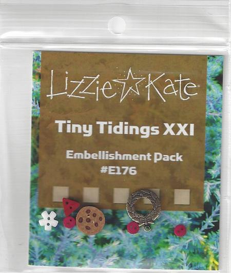 Lizzie Kate - Tiny Tidings XXI Embellishment Pack-Lizzie Kate - Tiny Tidings XXI Embellishment Pack