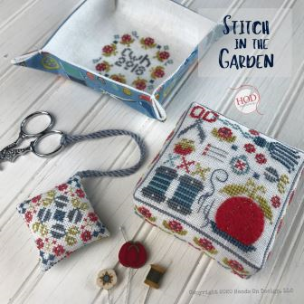 Hands On Design - Stitch in the Garden-Hands On Design - Stitch in the Garden, sewing, tomato pincushion, needles, cross stitch
