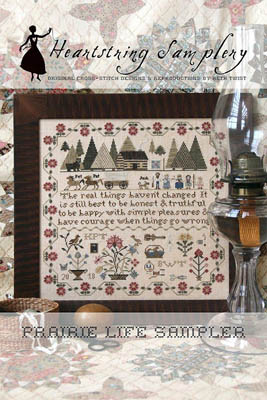 Heartstring Samplery - Prairie Life Sampler-Heartstring Samplery - Prairie Life Sampler, Little house on the prairie, country, folk, cross stitch