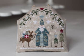 Tralala - Saint Nicolas-Tralala - Saint Nicolas, Christmas, Santa Claus, rabbit, gifts, mistletoe, cross stitch