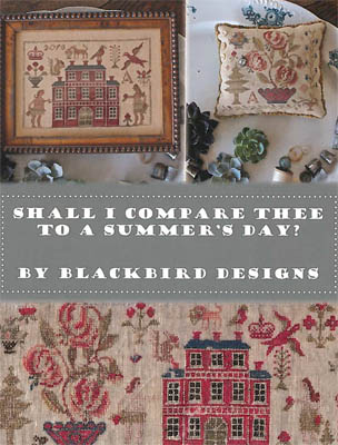 Blackbird Designs - Shall I Compare Thee To A Summer Day?-Blackbird Designs - Shall I Compare Thee To A Summer Day, samplers, Adam  Eve, cross stitch