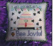 Needle Bling Designs - Bee Joyful-Needle Bling Designs - Bee Joyful, happy, beehive, bees, cross stitch,