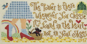 Silver Creek Samplers - Dorothy's Discovery-Silver Creek Samplers - Dorothys Discovery, Wizard of Oz, Dorothy Gale, Emerald Valley, cross stitch