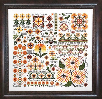 Rosewood Manor - Dreaming of Sunflowers-Rosewood Manor - Dreaming of Sunflowers, summer, flowers, cross stitch
