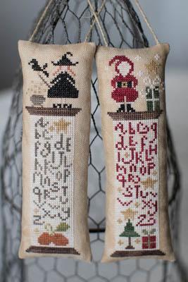 Tralala - Histoire De Bobines - Automne/Noel-Tralala - Histoire De Bobines - AutomneNoel, Fall, Halloween, Christmas, bobbins, samplers,